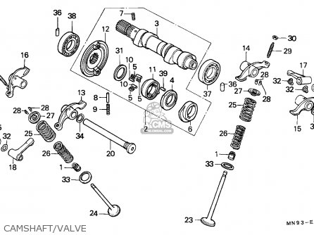 Honda Nx650 Dominator 1988 England   Mkh Camshaft valve