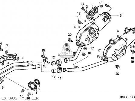 Honda Nx650 Dominator 1988 England   Mkh Exhaust Muffler