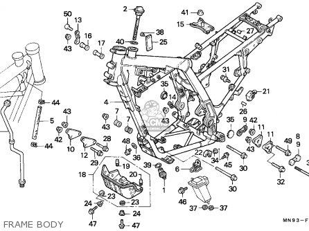 Honda Nx650 Dominator 1988 England   Mkh Frame Body