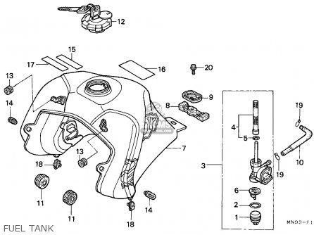 Honda Nx650 Dominator 1988 England   Mkh Fuel Tank