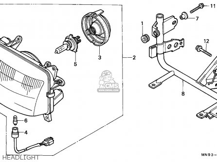 Honda Nx650 Dominator 1988 England   Mkh Headlight