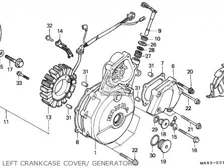 Honda Nx650 Dominator 1988 England   Mkh Left Crankcase Cover  Generator
