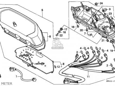 Honda Nx650 Dominator 1988 England   Mkh Meter