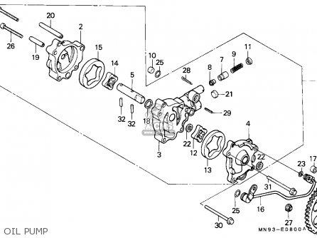 Honda Nx650 Dominator 1988 England   Mkh Oil Pump