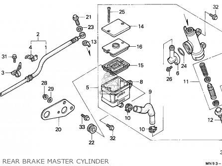 Honda Nx650 Dominator 1988 England   Mkh Rear Brake Master Cylinder