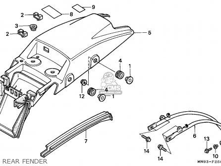 Honda Nx650 Dominator 1988 England   Mkh Rear Fender