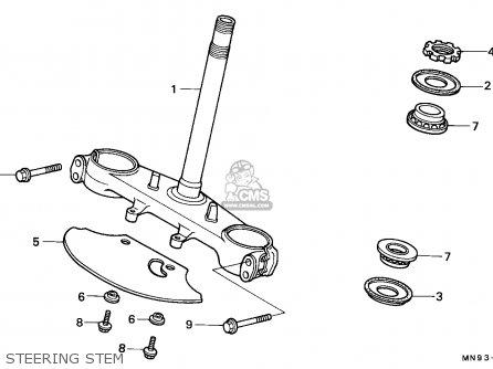Honda Nx650 Dominator 1988 England   Mkh Steering Stem