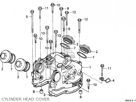 Honda Nx650 Dominator 1988 j England Mkh Cylinder Head Cover