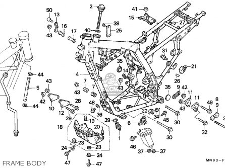 Honda Nx650 Dominator 1988 j England Mkh Frame Body