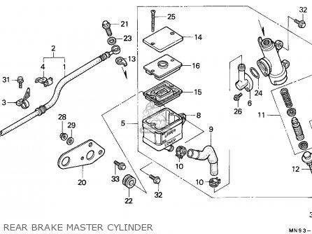 Honda Nx650 Dominator 1988 j England Mkh Rear Brake Master Cylinder