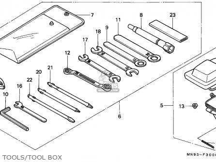 Honda Nx650 Dominator 1988 j England Mkh Tools tool Box