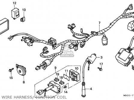 Honda Nx650 Dominator 1988 j England Mkh Wire Harness  Ignition Coil