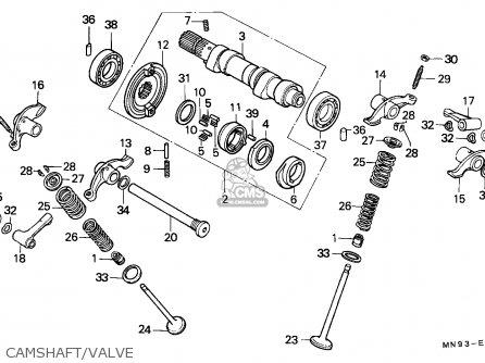 Honda Nx650 Dominator 1988 j England   Mkh Camshaft valve
