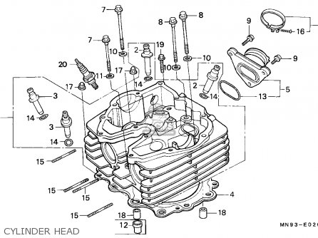 Honda Nx650 Dominator 1988 j England   Mkh Cylinder Head