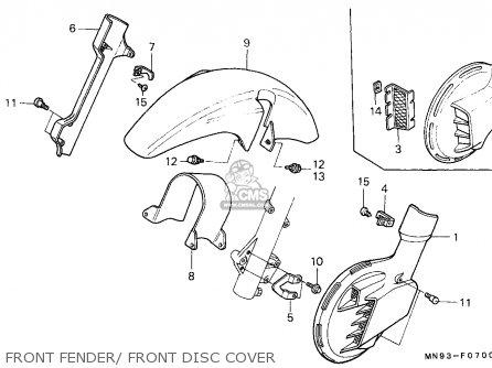Honda Nx650 Dominator 1988 j England   Mkh Front Fender  Front Disc Cover