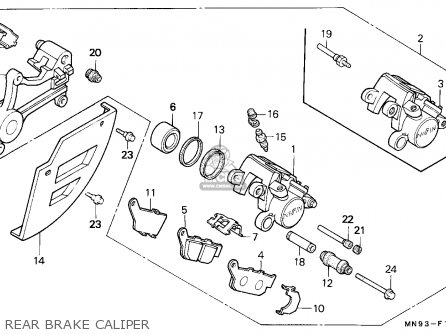 Honda Nx650 Dominator 1988 j England   Mkh Rear Brake Caliper