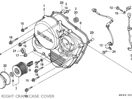 Honda Nx650 Dominator 1988 j England   Mkh Right Crankcase Cover