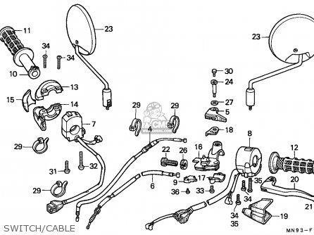 Honda Nx650 Dominator 1988 j England   Mkh Switch cable