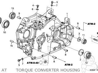 honda odyssey 1999 (x) 5dr ex (ka) at torque converter housing  at torque  converter housing  honda odyssey 1999