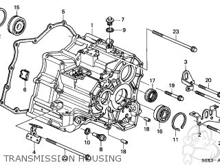 honda odyssey 1999 (x) 5dr van (ka) transmission housing
