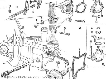 Honda P50 Little Honda General Export Cylinder Head Cover - Camshaft