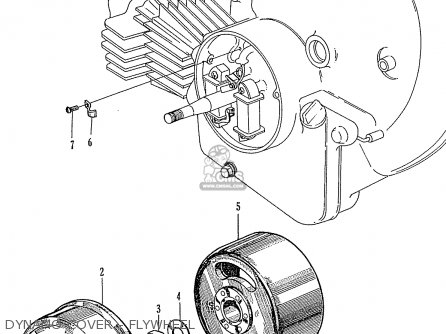 Honda P50 Little Honda general Export Dynamo Cover - Flywheel