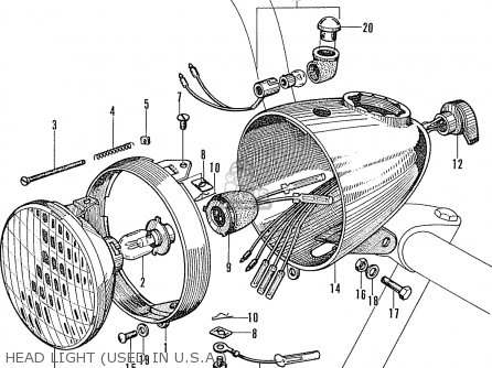 honda p50 little honda general export parts list