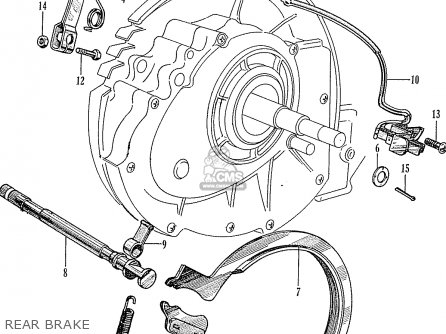 Honda P50 Little Honda general Export Rear Brake