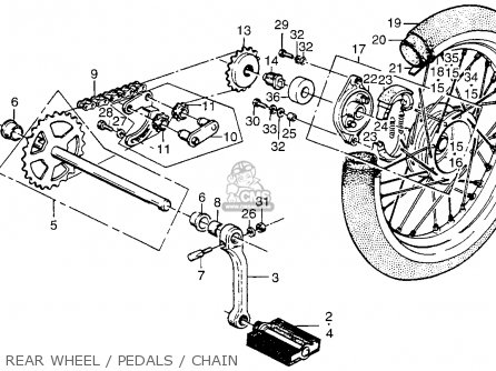 honda pa50ii hobbit 1979  z  usa    30 mph parts list