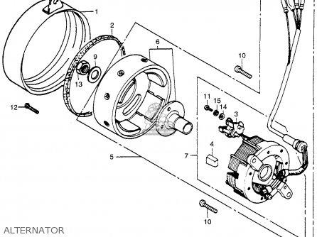 Honda Pa50ii Hobbit 1981 b Usa   30 Mph Alternator