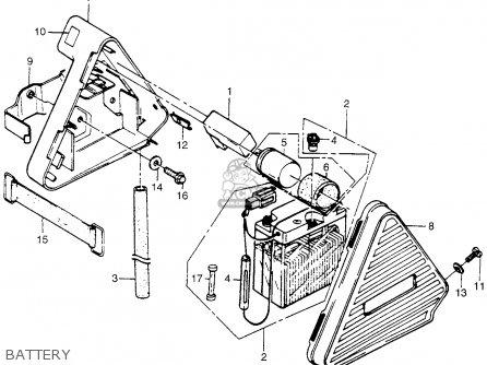 Honda Pa50ii Hobbit 1981 b Usa   30 Mph Battery
