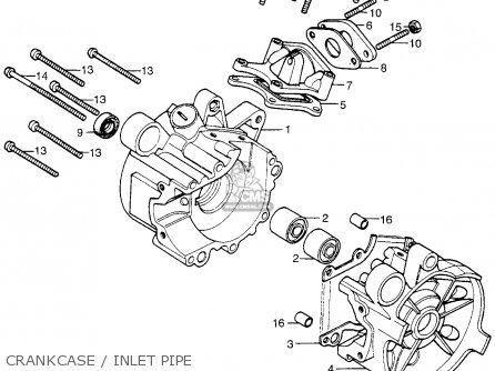 Honda Pa50ii Hobbit 1981 b Usa   30 Mph Crankcase   Inlet Pipe
