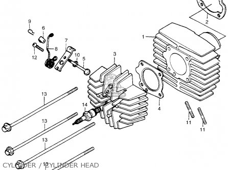 Honda Pa50ii Hobbit 1981 b Usa   30 Mph Cylinder   Cylinder Head