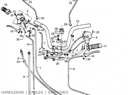 Honda Pa50ii Hobbit 1981 b Usa   30 Mph Handlebar   Cables   Switches