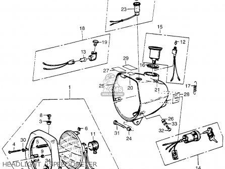 Honda Pa50ii Hobbit 1981 b Usa   30 Mph Headlight   Speedometer