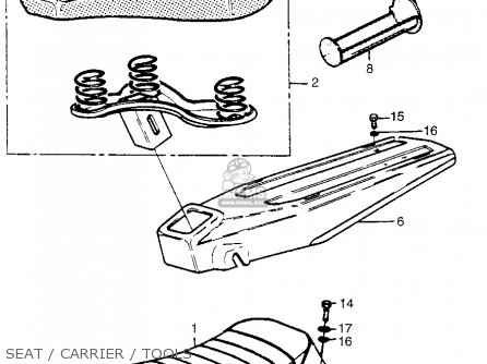 Honda Pa50ii Hobbit 1981 b Usa   30 Mph Seat   Carrier   Tools