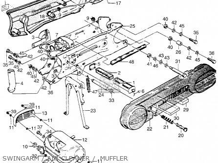 Honda Pa50ii Hobbit 1981 b Usa   30 Mph Swingarm   Air Cleaner    Muffler