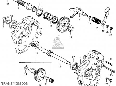 Honda Pa50ii Hobbit 1981 b Usa   30 Mph Transmission