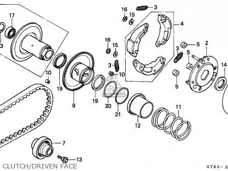 honda pk50 wallaroo 1990 l belgium parts lists and schematics Honda Henderson NV clutch driven face