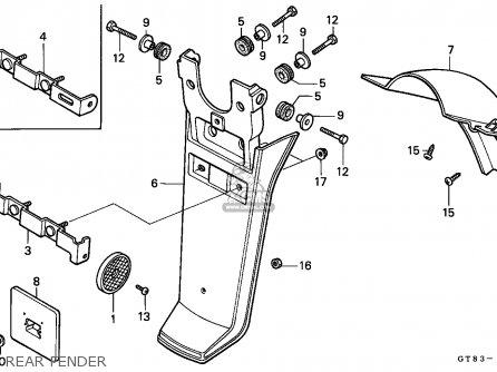 honda pk50 wallaroo 1990 l belgium parts lists and schematics Honda Cub rear fender