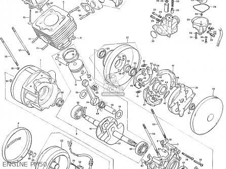 Honda Pm50 Canguro General Export Engine Pm50