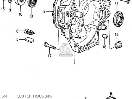 Honda Prelude 1982 2dr kl ka kh 5mt     Clutch Housing