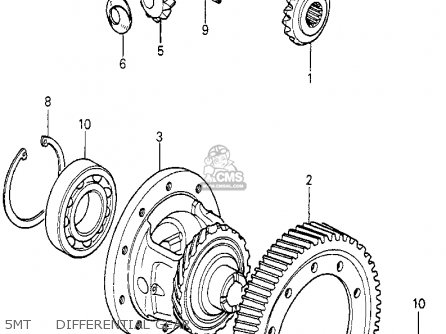 Honda Prelude 1982 2dr kl ka kh 5mt     Differential Gear