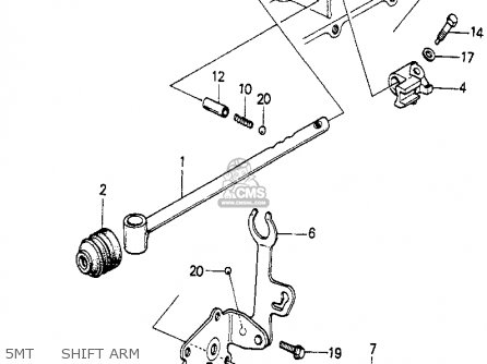 Honda Prelude 1982 2dr kl ka kh 5mt     Shift Arm