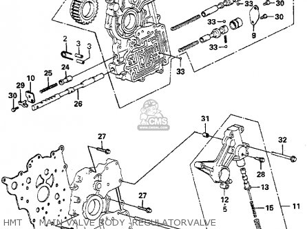Honda Prelude 1982 2dr kl ka kh Hmt     Main Valve Body -regulatorvalve