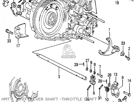 Honda Prelude 1982 2dr kl ka kh Hmt     Shift Lever Shaft -throttle Shaft