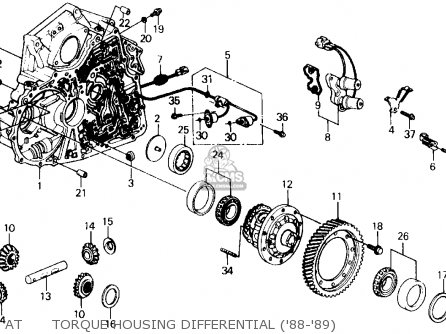 at torque housing differential ('88-'89)