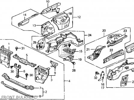 Honda Prelude 1989 K 2dr 2 0si Kakl Parts Lists And Schematics