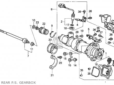 Honda Prelude 1993 P 2dr Si 4ws Kakl Parts Lists And Schematics