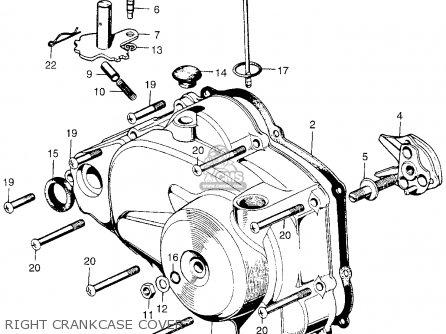 honda qa50 1970 qa50k0 usa right crankcase cover  right crankcase cover  honda  qa50
